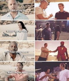 #Fast7: Paul Tribute, well done (Vin, Michelle, Tyrese, & Ludacris)
