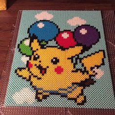 Pikachu - Pokemon perler beads by bomberblur87