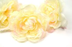 Silk Artificial Flower.... 2 Soft Silk Garden Roses by simplyserra, $4.89