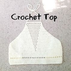 Crochet Tutorial Ideas crochet top tutorial with triangle detailing hook 100 acrylic yarn hope you like it :) - Crochet Halter Tops, Diy Crochet Top, Débardeurs Au Crochet, Crochet Summer Tops, Black Crochet Dress, Crochet Bikini Top, Crochet Blouse, Crochet Crafts, Crochet Stitches