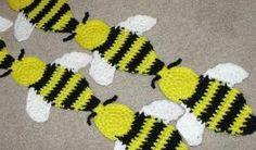 Bumble Bee Crochet Scarf Pattern by Gerri B F Krook