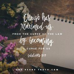 """""""Cristo nos resgatou da maldição da lei, fazendo-se maldição por nós"""" Gl 3:13"""