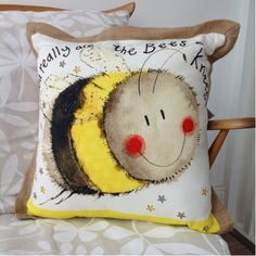 You Really Are The Bees Knees Cushion By Alex Clark - A Bentley Cushions Clark Art, British Wildlife, Bees Knees, Cushions, Throw Pillows, Gifts, Toss Pillows, Toss Pillows, Presents