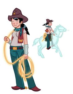 Cowgirl Wonder Woman and her invisible horse