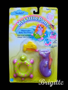 Vintage My Little Pony Sea Pony - a purple one