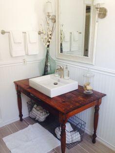 My DIY Bathroom Remodel-hubby nailed it!!