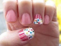 Super Cute Cupcakes | Super cute cupcake nails! show your support ... | Seventeen's Pretty ...