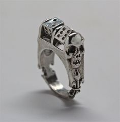 Roll the dice ring in silver with moving dice made by billyblue22, $140.00