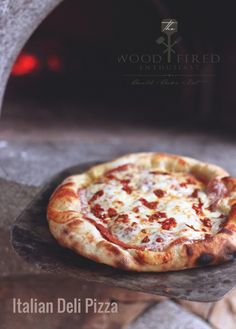 An Italian Deli inspired pizza recipe from The Wood Fired Enthusiast.