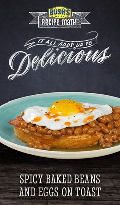 Spicy Baked Beans and Eggs on Toast: Give breakfast a quick and easy ...