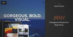 Download and review of JRNY: A Gorgeous & Responsive WordPress Blog Theme, one of the best Themeforest Magazine & Blogs themes