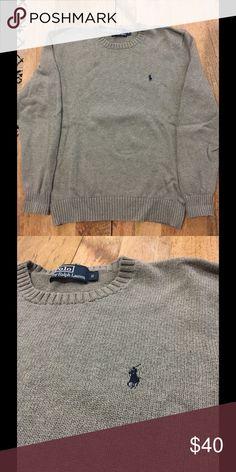 Men's Polo Ralph Lauren Sweater Men's size small grey Polo Ralph Lauren sweater. 100% cotton Polo by Ralph Lauren Sweaters Crewneck