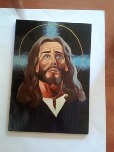 Jesus (acrylic and tempera on wood)