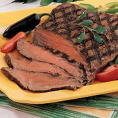 Quick Marinated Flank Steak.......