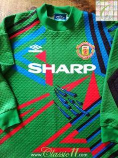 34e52b27d 1992 93 Man Utd Goalkeeper Football Shirt Schmeichel  1   Old Jersey