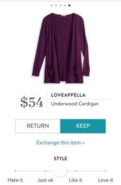 Loveappella Underwood Cardigan Stitch Fix 2016