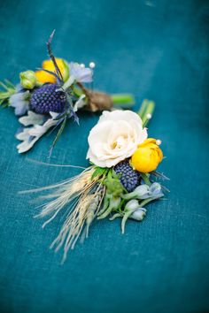 #boutonniere Photography by birdsofafeatherphoto.com/ Event Design + Planning by orangeblossomspecialevents.com Floral Design by peonyandplum.com  Read more - http://www.stylemepretty.com/2013/06/21/van-gogh-inspired-shoot-from-orange-blossom-special-events-birds-of-a-feather/