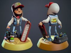 took the time waiting for client uploads to happen to render him out with marmoset, gotta love the vertexcolor feature mostly sculpted on the surface pr. Subway Surfers Jake Fanart in Marmoset Character Modeling, Game Character, Character Concept, Character Design, Subway Surfers Download, Skater Kid, Video Game Art, Video Games, Zbrush