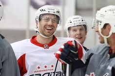 2013 Capitals Training Camp Day 1 - Eric Fehr is back!
