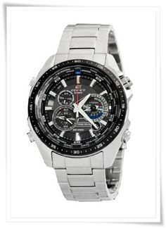 Casio Men's EQS500DB-1A1 Edifice Stainless Steel Multi-Function Chronograph Watch