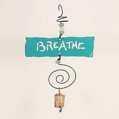'Breathe' hanging art