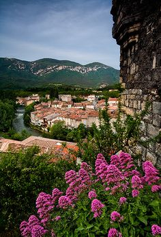 View of Caivirac from the Castle in the hill in the Cathar region of FRANCE.   ᘡղbᘠ