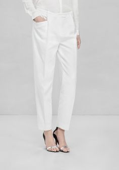 & OTHER STORIES Luxe tailored trousers made from textured cotton.