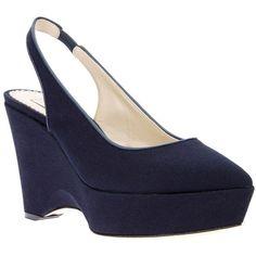 Stella Mccartney canvas wedge shoe ($672) ❤ liked on Polyvore