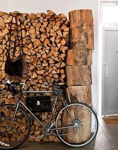 LET'S STAY: Lovely Stacks of Firewood Ideas in Interior Design