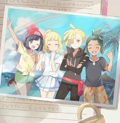 Moon, Lillie, Gladion and Hau ^^♥