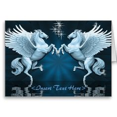 Create your own unique greeting on a Pegasus card from Zazzle. From birthday, thank you, or funny cards, discover endless possibilities for the perfect card! Winged Horse, Custom Greeting Cards, Blank Cards, Paper Texture, Teal, Blue, Thoughtful Gifts, Note Cards, Reflection