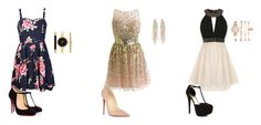 """Encontro de Casais - Vic, Rubia, Alisha"" by firefox-night ❤ liked on Polyvore featuring Little Mistress, Gatsby, Ally Fashion, JustFab, Christian Louboutin, Anne Klein, Charlotte Russe and Style & Co."