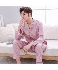 Underwear & Sleepwears Men's Pajama Sets Mens Geometric Patterns Pajama Sets Yarn Weave Cotton Men Pajamas Comfy Sleepwear Men Plus Size M-4xl Soft Nightgown Pyjamas