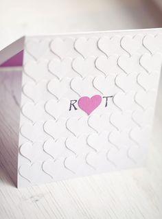 handmade wedding invitation #heart