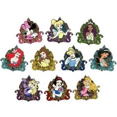 Disney Mystery Pin - Disney Girls - 21 Pin COMPLETE Set-girls would love this!