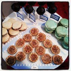 Pecan tarts,macarons and cake pops!