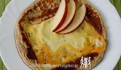 Low Carb Pfannkuchen - Herzhafte Pfannkuchen mit Käse
