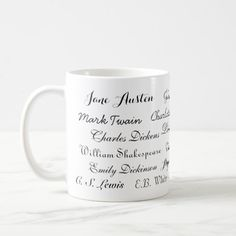 Classic Mug of Famous Authors