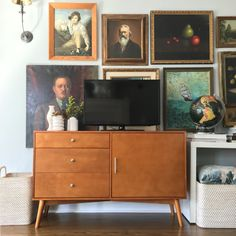Our mid-century TV console http://amzn.to/2hZ93yh