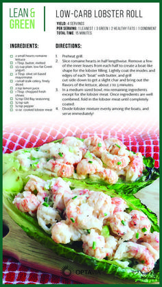 Optavia Discover Lettuce wraps with all the flavor of a lobster roll. Perfect for parties and potlucks and great as a meal prep item! Medifast Recipes, Low Carb Recipes, Diet Recipes, Cooking Recipes, Healthy Recipes, Lean Meat Recipes, Diet Meals, Diet Foods, Healthy Options