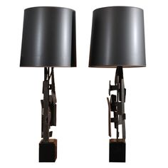 Pair of Brutalist Laurel Lamps | From a unique collection of antique and modern table lamps at http://www.1stdibs.com/furniture/lighting/table-lamps/