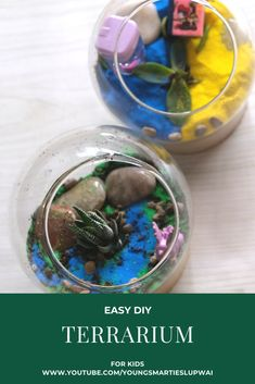 Watch our kids using their creative minds to DIY the terrarium at home. All you need is a glass vase or mason jar, small plant, coloured sand, soil, pebbles and cute little decorations. Best screen free and bonding activity for the family. Coloured Sand, Youtube Videos For Kids, Bonding Activities, Diy Crochet And Knitting, Terrarium Diy, Home Learning, Secret Recipe, Small Plants, Science Experiments