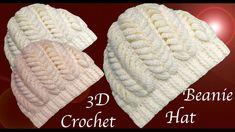 0b53988f52f13 Gorro a Crochet punto hojas espigadas en 3D paso a paso tejido tallerman.