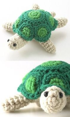 Turtle crochet awww I want one!! Can any one crochet???