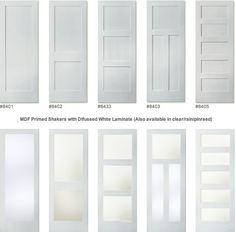 Painted doors with glass--3 panel or glass only at top if one over two