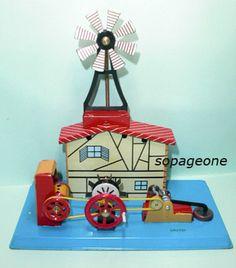 Tin Plate Manual Windmill Mint in Box