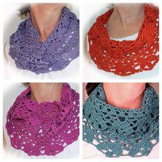 Custom Infinity Scarf Neckwarmer Cotton Scarf Crochet by OyoPOP