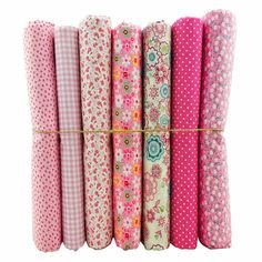 New Arrival~ 50x50cm 7 Prints Assorted Pink Collection Cotton Sewing Fabric, Diy Cloth for Patchwork Quilting Tilda Dropshipping $10,03