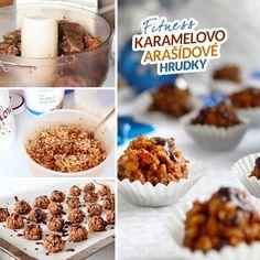 Fitness karamelovo arašídové hrudky recept Bajola Christmas Candy, Recipe Box, Peanut Butter, Menu, Baking, Breakfast, Fitness, Recipes, Cook