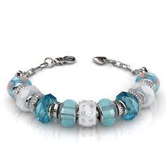 06d4b2029 Swarovski Blue Beaded Charm Bracelet - WristWhim. Swarovski Bracelet Swarovski StonesGold Plated BraceletsCrystal ...